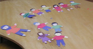 Paperdolls made by children in Religious Education